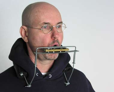 harmonica on neck rack